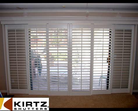 Interior Sliding Door Shutters Sliding Shutters For Sliding Doors A Not So Standard Installation Kirtz Shutters Custom