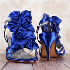 royal blue sandals heels royal blue wedding shoes strappy sandal bridal shoes with