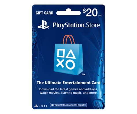 Gift Card For Ps4 - psn gift card code usa 20 for the ps4 ps3 ps vita