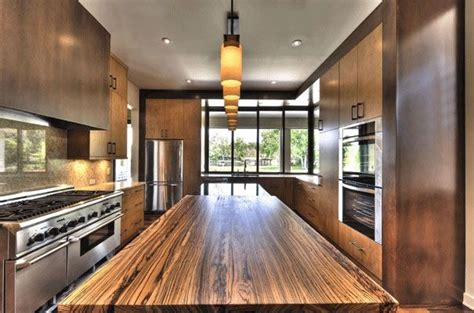 Natural Hickory Kitchen Cabinets modern kitchen countertops from unusual materials 30 ideas