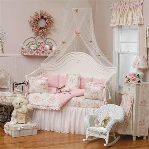 Baby Living Room Bed Baby Bedroom Pink Vintage Look Antique Image