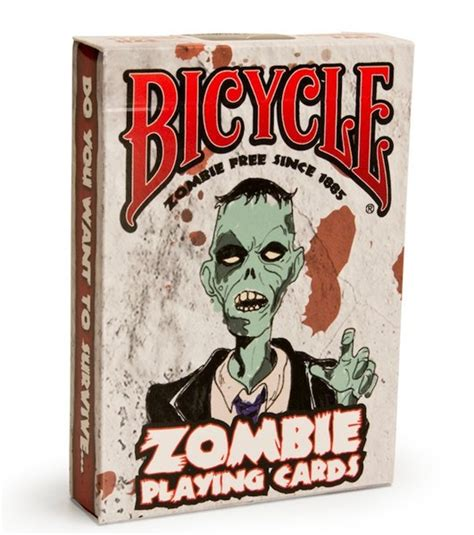 Playing Card Gifts - zombie playing cards from bicycle cards