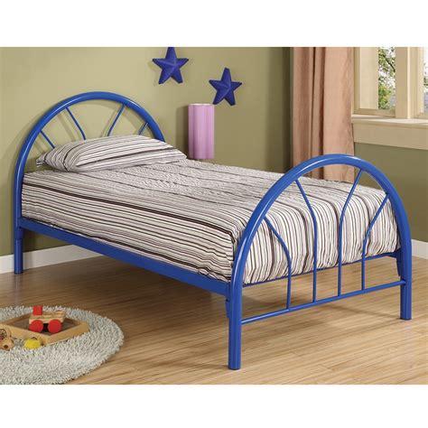 blue twin bed dreamfurniture com 2389b coaster twin bed blue