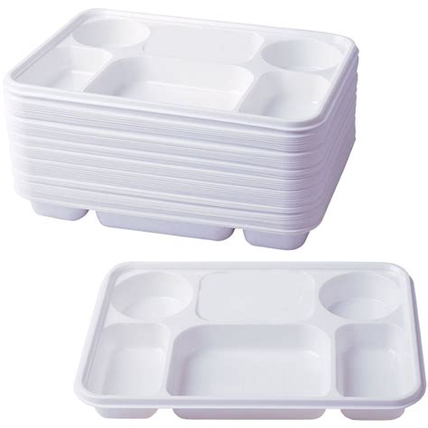 disposable sectioned plates compartment plastic dinner plates 50 pcs party home food