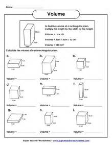 volume of rectangular prism worksheet volume worksheets