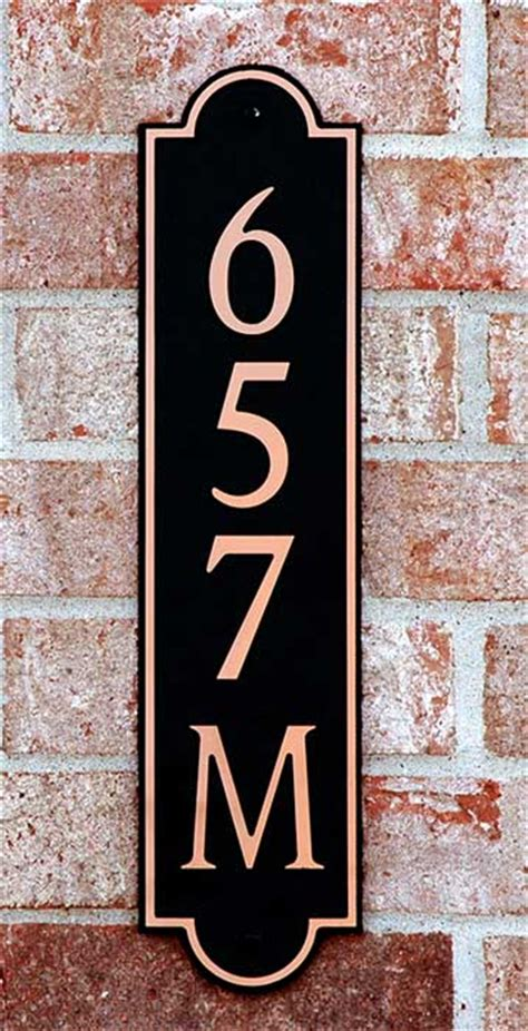 House Number Sign by Personalized Vertical House Number Sign