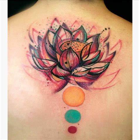 watercolor tattoo effect collection of 25 watercolor effect flower on back