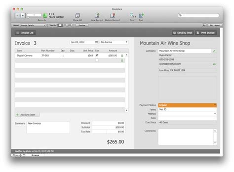 filemaker invoice template the mac office estimates and invoices filemaker pro 12