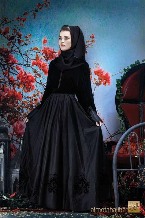 Gamis Abaya Syari Benhur Velvet abaya by almotahajiba winter collection 2013 2014 silk and rich velvet abayah