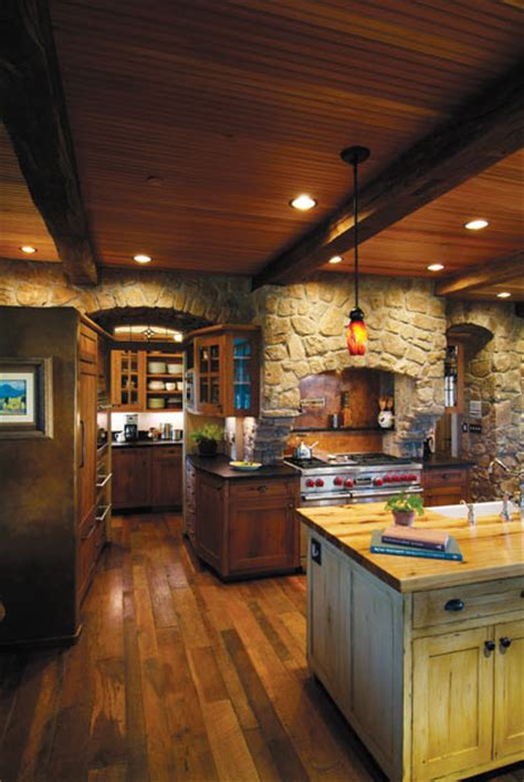 rustic kitchen with rich accents rustic kitchen rich wood kitchen with stone accents rustic kitchen