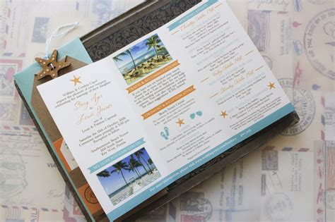 Travel Brochure Wedding Invitation by Travel Brochure Wedding Invitation Key West Fl