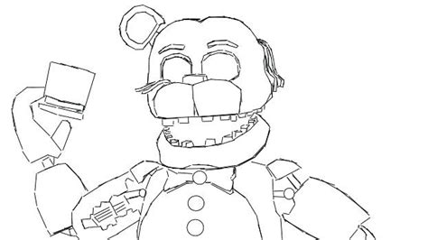 Fnaf 1 Coloring Pages by Fnaf Coloring Pages Freddy Chica Coloring Page For Your