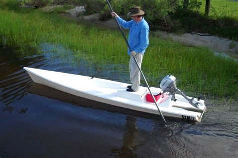low tide flats boats for sale solo skiff the one man powered boat a fishing kayak