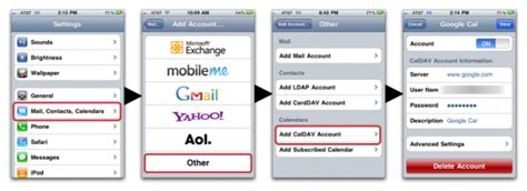 calendar mobile setup diy mobileme alternative for syncing your contacts and