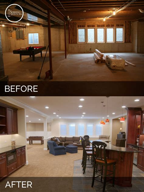 houses with finished basements steve elaine s basement before after pictures