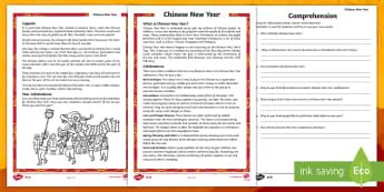 new year reading comprehension year 6 new year primary resources takeaway page 1