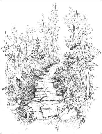 path tattoo designs sketch mountain path gallery