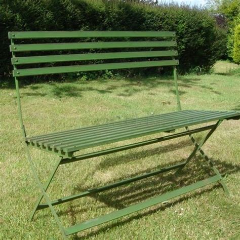 green metal bench green garden metal bench bliss and bloom ltd