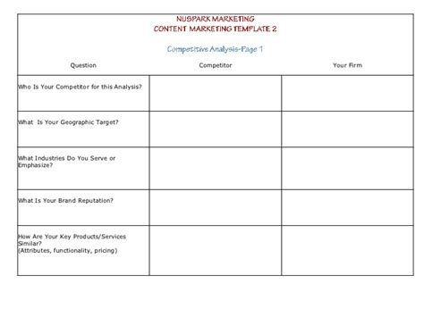 content marketing plan template content marketing strategy templates