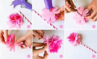 Paper Flower Steps - ruff draft diy tissue paper flower from our birthday