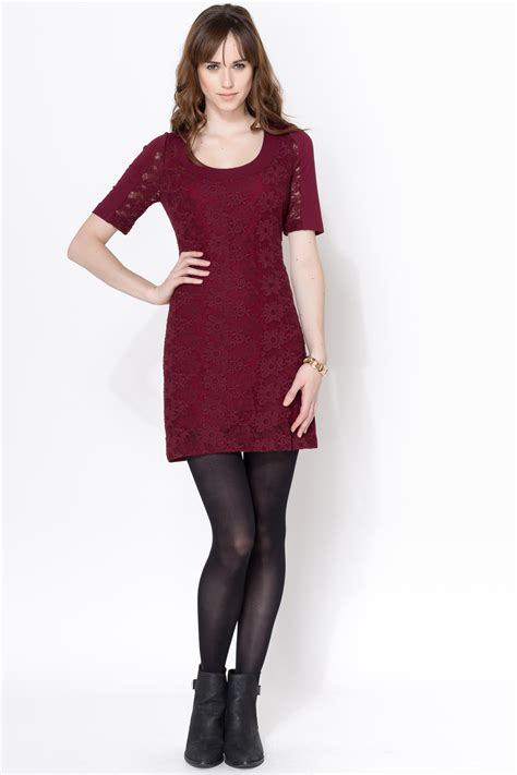 Promo New Dress Lace Maroon Plenty By Tracy Reese Maroon Lace Dress From By