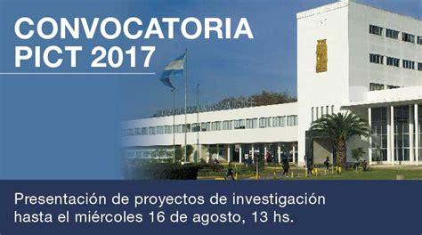 convocatorias unaj convocatoria pict 2017 universidad nacional arturo jauretche