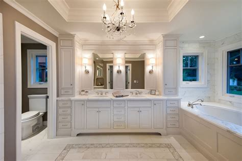 Houzz Bathroom Ideas by Master Bath In White Traditional Bathroom San