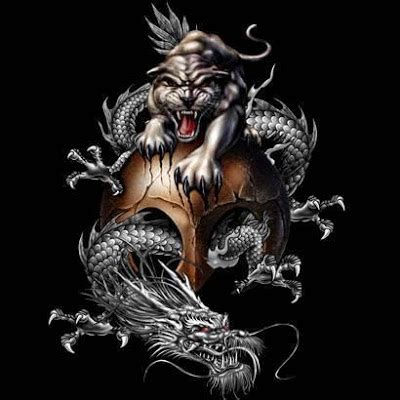 chinese dragon and tiger tattoo designs top designs tiger