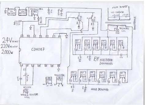 how to make schematic diagram gt circuits gt how to build a 2kva inverter circuit diagram
