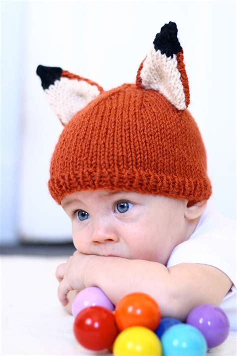 knitted fox hat knit fox hat pattern knitting pdf instant baby