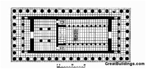 floor plan of parthenon great buildings drawing the parthenon
