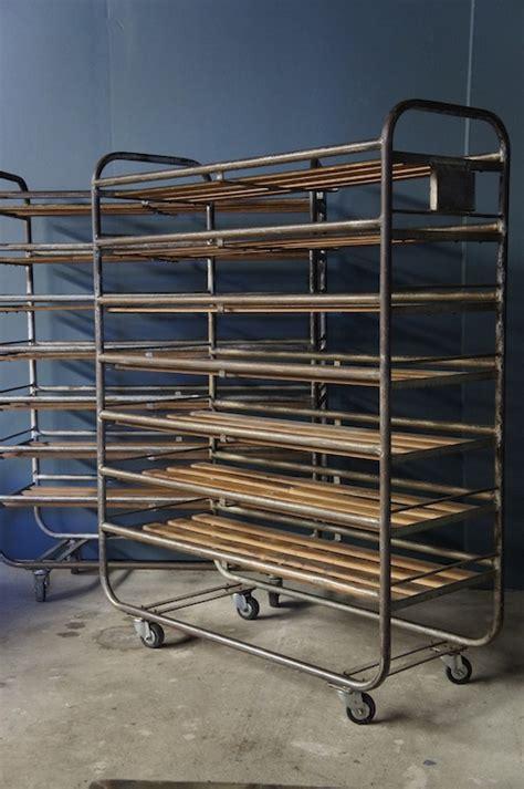 Industrial Metal Racks by Sold Industrial Metal And Wood Bakers Rack