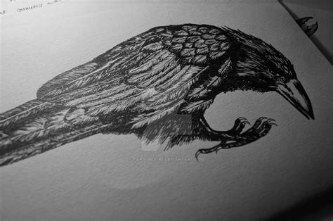 crow tattoo design by tarin moore on deviantart