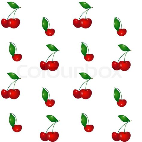 cherry pattern vector art cherry seamless pattern stock vector colourbox