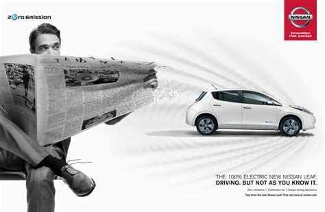 nissan leaf ad nissan print advert by tbwa feel the surge ads of