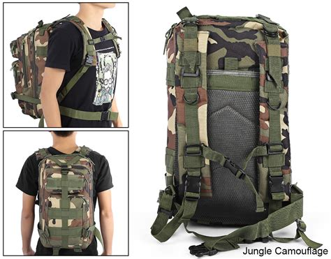 mipac camo backpack army 3p hiking cing bag army tactical trekking
