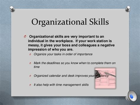 organizational skills proper office etiquette