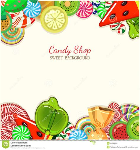 Candy Shop. Vector Illustration. Stock Vector   Image