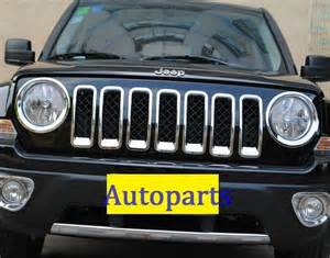 for jeep patriot 2011 2017 chrome grille headlight
