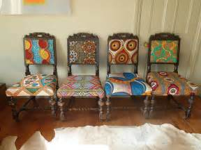Upholstered Club Chairs Sale Design Ideas Frumpy Chairs Get A Tribal Fabric Makeover Modhomeec