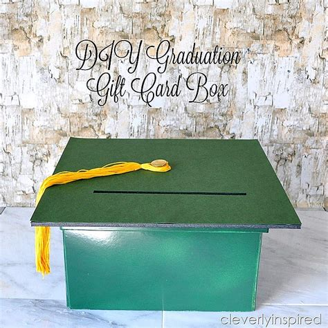 Graduation Gift Cards - diy graduation gift card box cleverly inspired
