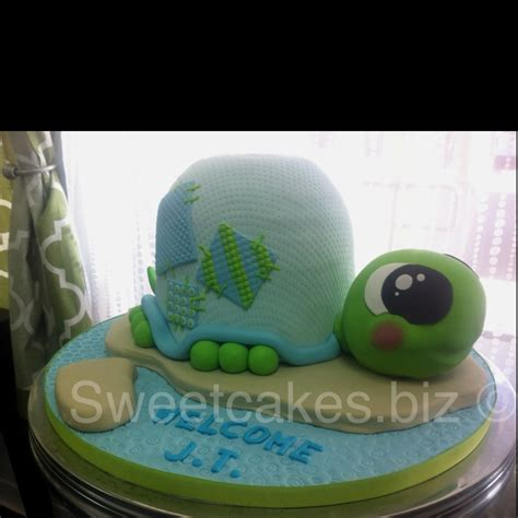 Turtle Baby Shower Ideas by Baby Shower Cakes Turtle Baby Shower Cake Ideas