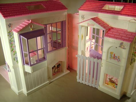 folding barbie doll house barbie doll house 1996 mattel folding dream house ebay