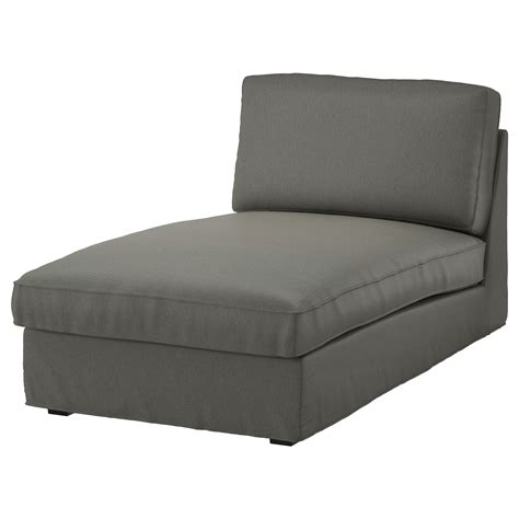 kivik chaise cover kivik cover for chaise longue borred grey green ikea