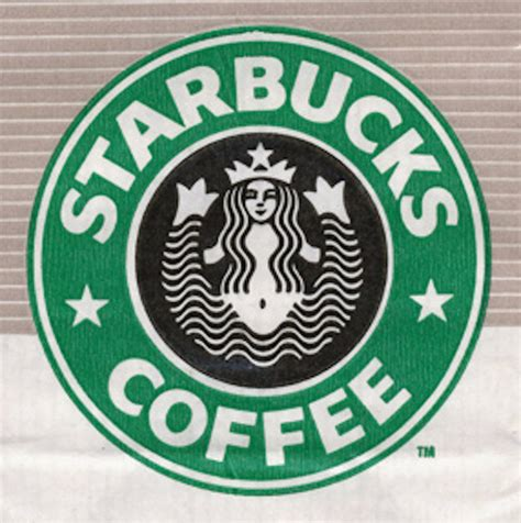 company with a buck in the logo history of the starbucks logo print