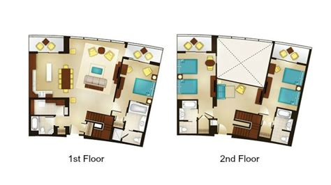 bay lake tower one bedroom villa floor plan bay lake tower one bedroom villa floor plan bay lake
