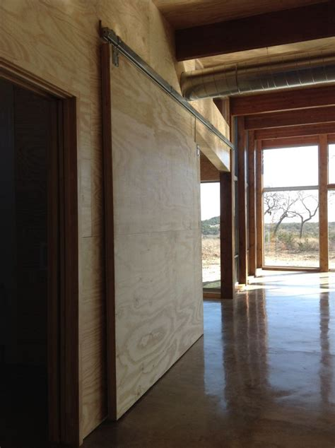 Sliding Plywood Doors by Walk Sliding Doors Offices And Plywood Walls