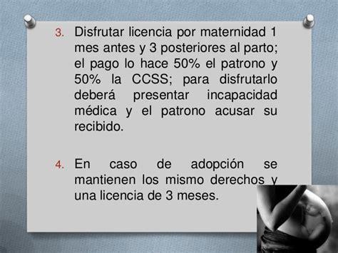 licencia de 4 meses por maternidad entra en vigencia a trabajo de las mujeres y los menores en costa rica
