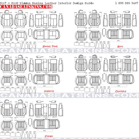 interior design guide 2007 2008 nissan maxima custom leather upholstery