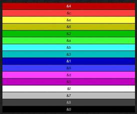 color code minecraft colour codes minecraft